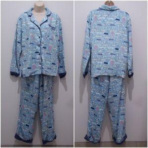 Used, Munki Munki Pajamas Flannel White Dachshund 1891 for sale